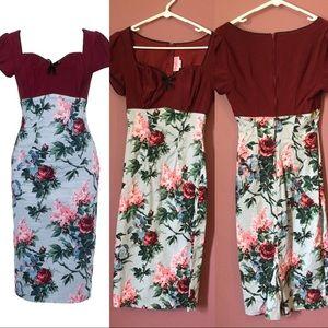 NWOT Floral Maryann Pinup Dress